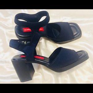 Gloria Vanderbilt Slingback Chunky Sandals